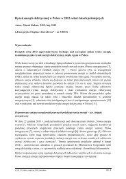 Rynek energii elektrycznej w Polsce w 2012 roku i latach ... - CIRE.pl