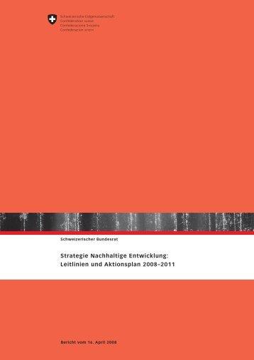 Strategie Nachhaltige Entwicklung 2008-2011