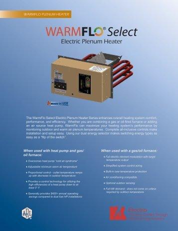 WarmFlo Electric Plenum Duct Heater Consumer Brochure