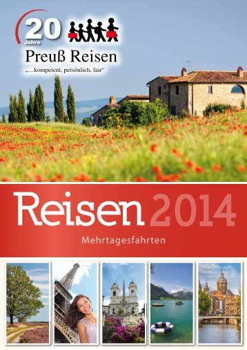 Mehrtagesfahrten 2014 - Preuß Reisen