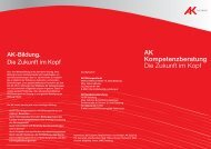 AK Kompetenzberatung Die Zukunft im Kopf - Der Studienchecker