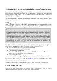 Vejledning i brug af system til online indberetning ... - Søfartsstyrelsen
