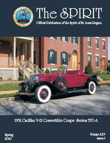 Spring Classic Car Book for 2010 - Spirit of St Louis Region - CCCA