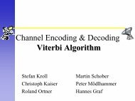 Channel Encoding & Decoding Viterbi Algorithm