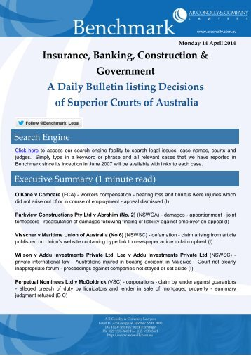 benchmark_14-04-2014_insurance_banking_construction_government