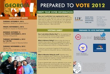PREPARED TO VOTE 2012 GEORGIA - NAACP Legal Defense and ...