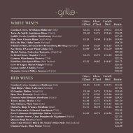 Grille A la Carte Wine Menu - White Hart Hotel