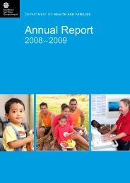 Chief Executive Report - DHCS Digital Library - Northern Territory ...