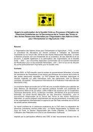 Appel à la participation de la Société Civile au Processus d ... - NGLS
