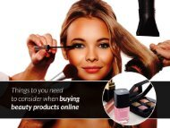 Things to be considered when planning to buy beauty products online