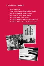 3. Academic Programs - Lincoln Christian University