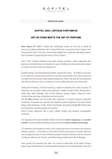 Press Release - Sofitel Luxury Hotels & the Artisan Parfumeur - US