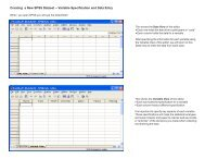 Creating a New SPSS Dataset -- Variable Specification and Data Entry