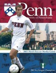 2003 Men's Soccer Media Guide - University of Penn Athletics