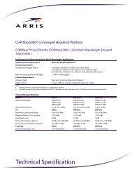 "CHP CORWaveâ""¢ 1 GHz O-Band Multi-Wavelength Forward     - Arris"