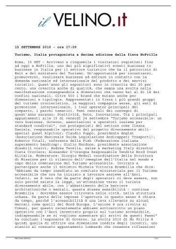 Turismo, Italia protagonista a decima edizione della ... - GuidaViaggi