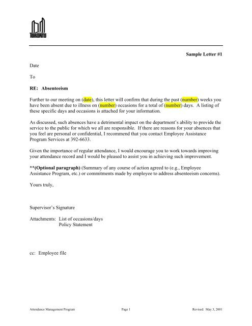 Termination Letter For Attendance from img.yumpu.com