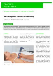 Extracorporeal shock wave therapy - Shockwave France