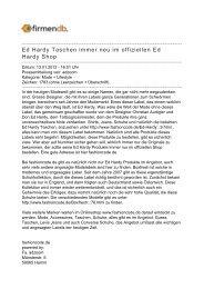 Ed Hardy Taschen immer neu im offiziellen Ed Hardy Shop - Firmendb