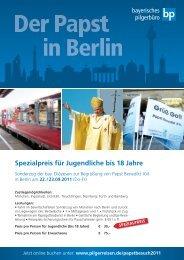 Spezialpreis für Jugendliche bis 18 Jahre - BDKJ-Passau