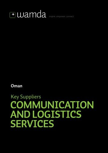 COMMUNICATION AND LOGISTICS SERVICES - Wamda.com