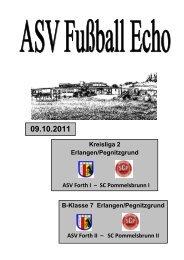 Fußball Echo 09.10.11 - ASV Forth