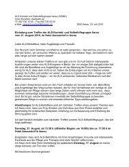 Anmeldung zum ALS-Treffen der Selbsthilfegruppe im Hotel ...