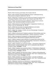 List of Publications - Konrad Lorenz Institute