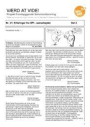 Nr. 21: Erfaringer fra OPI - samarbejdet Del 2