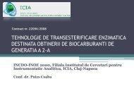 tehnologie de transesterificare enzimatica destinata obtinerii de ...