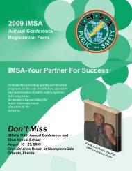 Don't Miss - IMSA