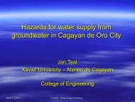 Groundwater in Cagayan de Oro City - Forum for Urban Future in ...