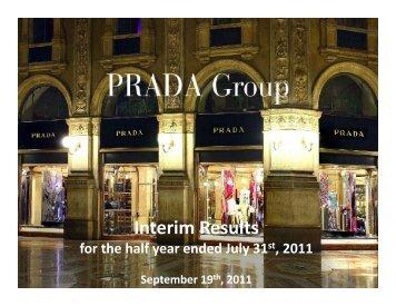 Interim Results - Prada Group