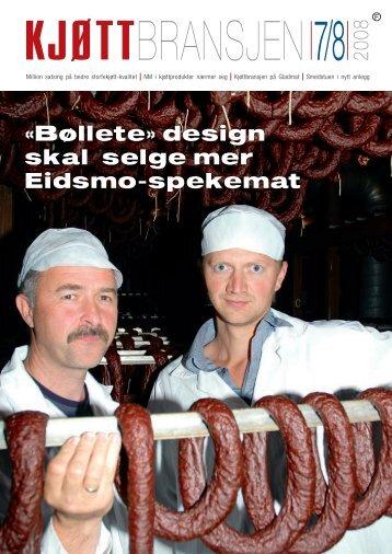 «Bøllete» design skal selge mer Eidsmo-spekemat - Kjøtt- og ...