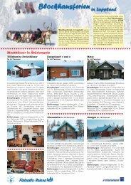 Blockhausferien in Lappland - Finlandia-Reisen