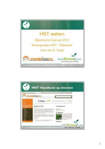 Achtergronden Het Nieuwe Telen en Rekentool - Energiek2020