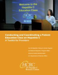 Conducting and Coordinating a Patient Education Class - Hepatitis C