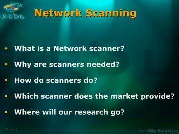 Overview of Internet Scanner