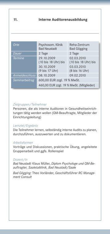 11. Interne Auditorenausbildung - IQMG Institut für ...