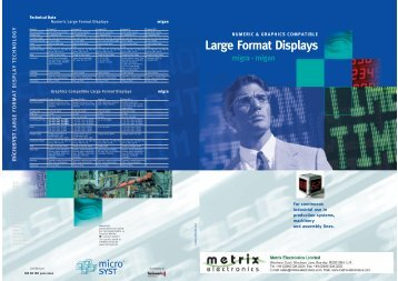 Large Format Displays - Metrix Electronics Ltd