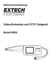 Video-Endoskop und CCTV Testgerät - Extech Instruments