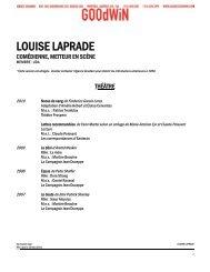 L LOUIS SE LA APRA ADE - Agence Goodwin