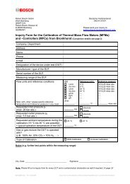 Inquiry Form for the Calib. of Thermal Mass Flow Meters and Cont ...