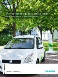 Moving with energy into a mobile future - Siemens Energy