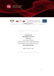 Rekomendāciju ziņojums - Ministru Kabinets