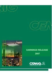 EARNINGS RELEASE 2007 - Cemig