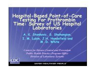 Hospital-Based Point-of-Care Testing For Prothrombin Time: Survey ...