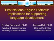 First Nations English Dialects - Early Childhood Development ...