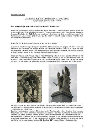 Damals war es - DEUTSCHER UNTERWASSER-CLUB BERLIN ev