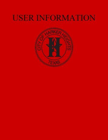 Section C, User Information - Harker Heights